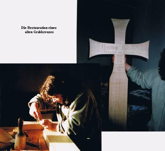 Restauration eines Kreuzes