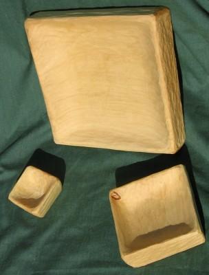 Quadratische Schalen