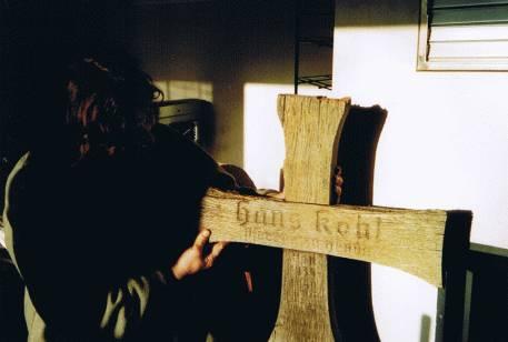 Restaurationen eines Kreuzes